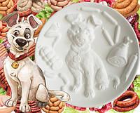 """""""Собака мечта"""" - декоративная тарелка для росписи с объёмным рельефом"""