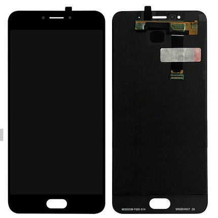 Дисплей (экран) для Meizu MX6 M685H с сенсором (тачскрином) черный, фото 2