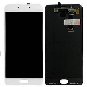 Дисплей (экран) для Meizu MX6 M685H с сенсором (тачскрином) белый Оригинал