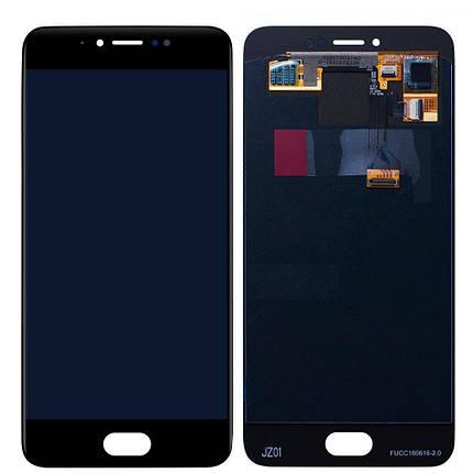 Дисплей (экран) для Meizu Pro 6 (M570H) с сенсором (тачскрином) черный Оригинал, фото 2