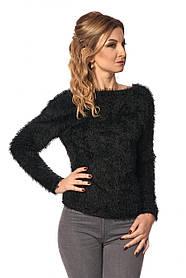 Женская кофта из трикотажа травка 408 / цвет черный / размер 42-52