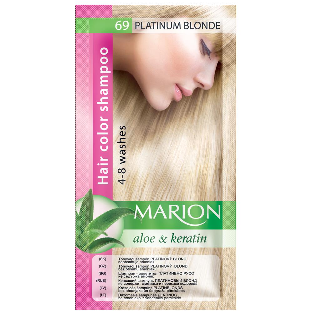 Оттеночный шампунь Marion Color № 69 Платиновый блонд 40 мл (4118011)