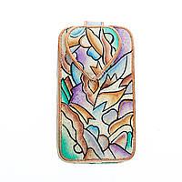 Оригинальной расцветки кожаный чехол для мобильного телефона CP-596AL-S