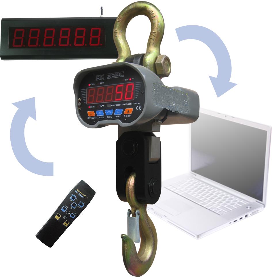 Весы ВК ЗЕВС III РК 5000 кг с радиоканалом и дублирующим табло