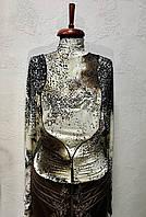 Блуза водолазка нарядная женская Balizza леопардовый, фото 1