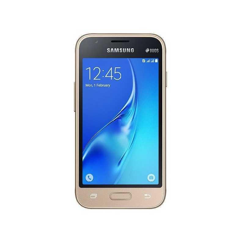 Смартфон на 2 сим карты 4 дюйма 4 ядра 0,75/8Gb Samsung Galaxy J1 mini SM-J105 золотой
