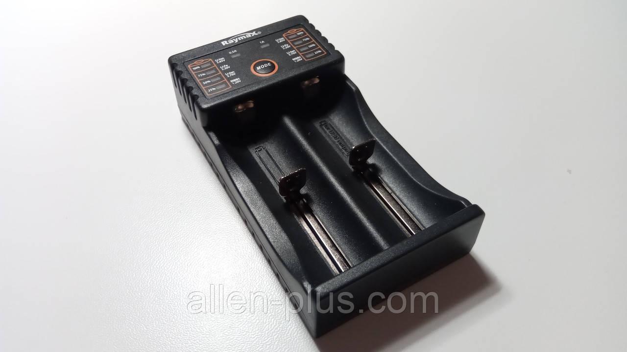 Зарядное устройство Raymax RM217 (2 канала, функция Power Bank) (18650, Li-Ion, USB)