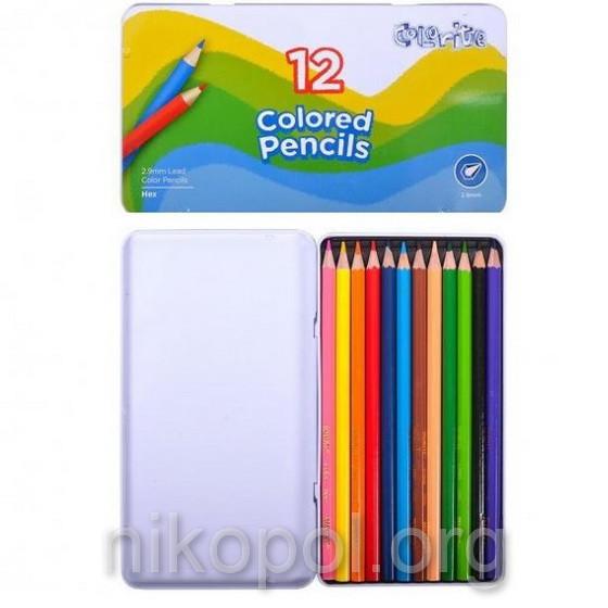 Набор цветных карандашей MARCO Colorite 1100-12TN, 12 цветов