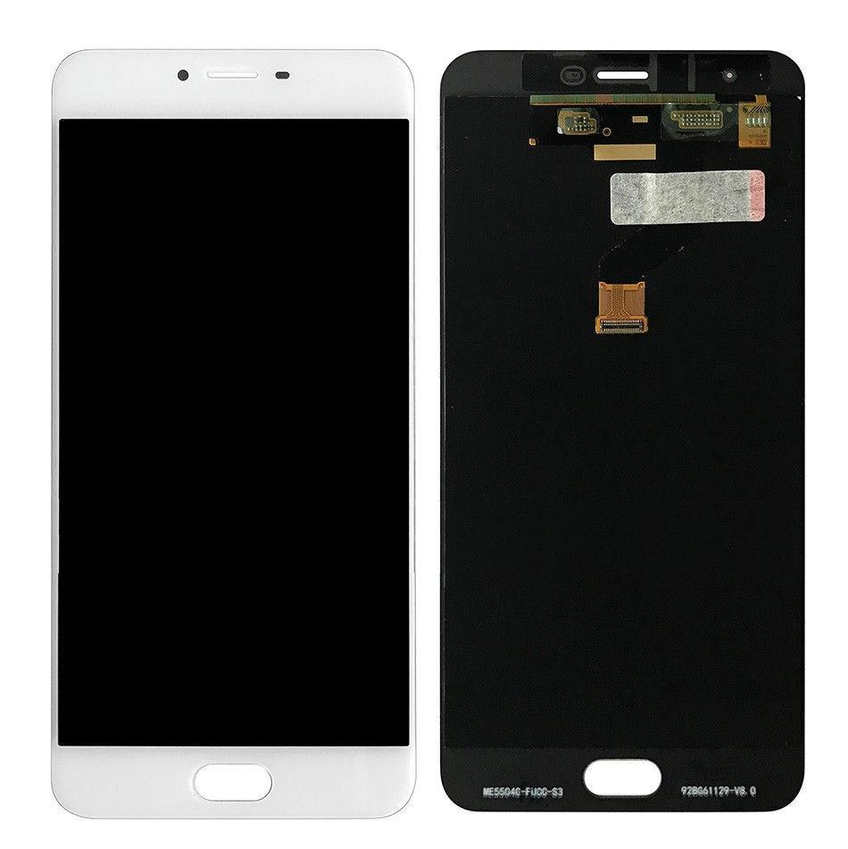 Дисплей (экран) для Meizu X с сенсором (тачскрином) белый Оригинал