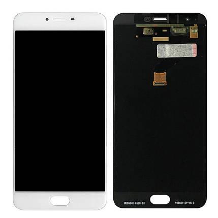 Дисплей (экран) для Meizu X с сенсором (тачскрином) белый Оригинал, фото 2