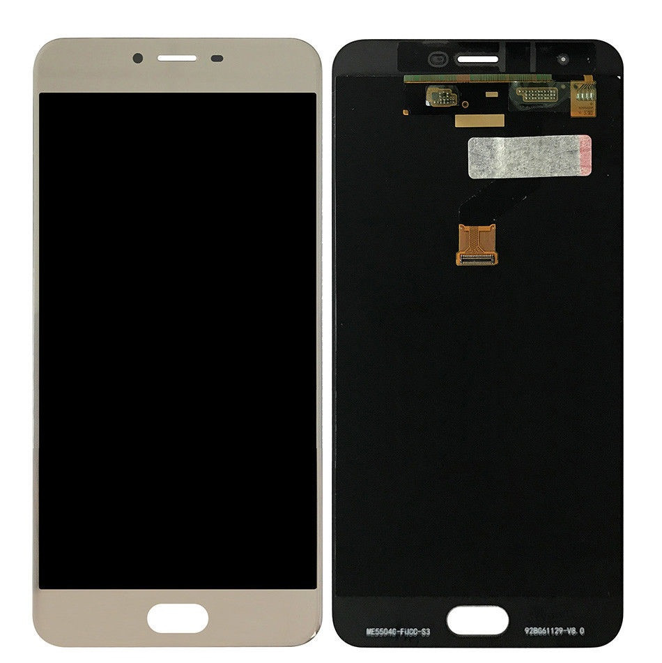 Дисплей (экран) для Meizu X с сенсором (тачскрином) золотистый Оригинал