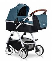 Детская коляска универсальная 2 в 1 EasyGo Optimo adriatic (ИзиГоу, Польша)