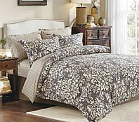 Хлопковое постельное белье из сатина двуспальное Комфорт Текстиль