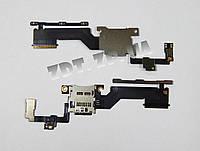 Шлейф с кнопкой включения и SIM коннектором HTC One M9 Plus