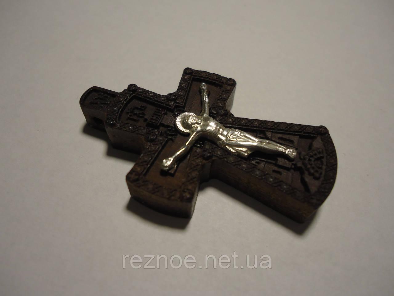 Крестик  распятие серебро