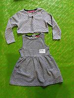 Платье для девочки 3-6 лет с болеро серого цвета оптом