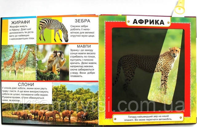 Світ тварин. Чарівний ліхтарик, купить книгу Киев, Украина