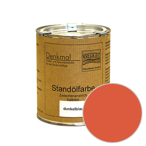 Стандолевая масляная краска полужирная / нижний слой / Schlussanstrich englischrot, красный   0,75 l