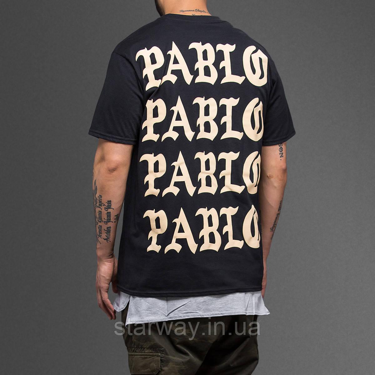 Футболка чёрная принт I Feel Like Pablo топ