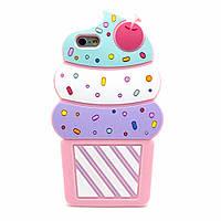 Резиновый 3D чехол для iPhone 6 Plus / 6S Plus Ice cream