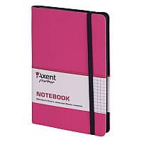 """Блокнот """"Axent"""" 96 листов """"Partner Soft"""" 125*195 клетка, розовый №8206-10-А"""