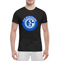 Мужская футболка - Клуб Schalke, отличный подарок купить со скидкой, недорого