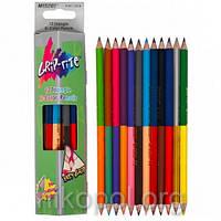 Набор цветных карандашей MARCO Grip-rite 9101-12CB, 24 цвета