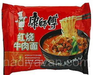 Вермишель быстрого приготовления с тушенной говядиной, овощами 82,5г  Kang Shifu (康師傅), фото 2