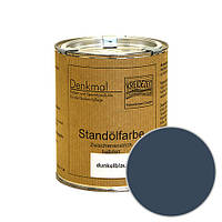 Стандолевая масляная краска полужирная / нижний слой / Schlussanstrich dunkelblau, темно-синяя  0,375 l