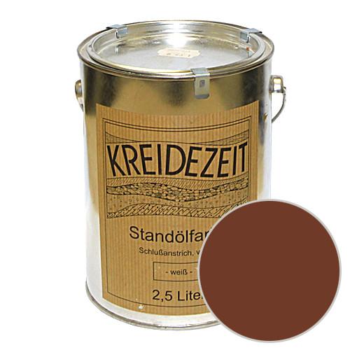Стандолевая масляная краска полужирная / нижний слой / Schlussanstrich braun, коричневая 0,75 l