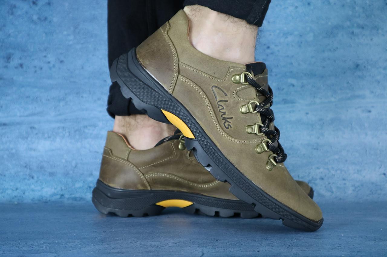 Мужские повседневные ботинки Clarks (оливка), ТОП-реплика