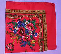 Украинский платок на шею Красный