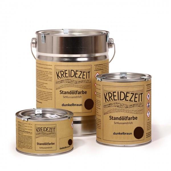 Стандолевая масляная краска полужирная / нижний слой / Zwischenanstrich dunkelbraun, темно-коричневая 2,5 l