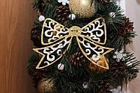 Новогодний бантик украшение на елку