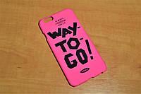 Пластиковый чехол накладка для iPhone 6 / 6S (4.7 дюйма) (Розовый)