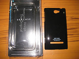 Чохол накладка SGP на HTC 8s-чорний.