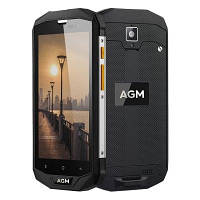 "Смартфон AGM A8 Black SE, 2/16Gb, 13/2Мп, 4 ядра, 2sim, IP68, экран 5"" IPS, 4050mAh, 4G"