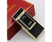 USB зажигалка TIGER №4686(Электроимпульсная). 2цвета: золотистая и черная
