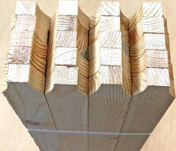 Штакетник деревянный 1,20м 40х16мм (20шт)