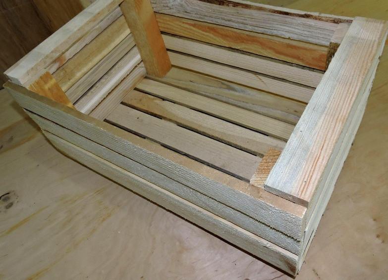 Ящик овощной деревянный 32х50х23см