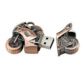 USB Флеш Мотоцикл 16gb Бронза, фото 2