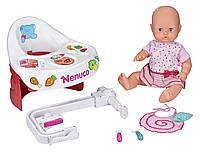 Кукла пупс Ненуко с интерактивным столиком Nenuco Highchair Eat with Me Doll Оригинал