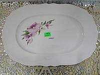 Блюдо белое с деколью 34 см