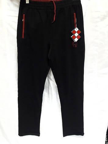 Брюки мужские трикотажные Tommy Life черные с красным, фото 2