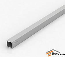 Труба алюминиевая 10х8,8х1,5мм прямоугольная АД31Т5 анод AS Серебро