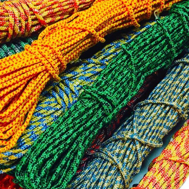 Веревки бельевые (3mm/15m) плетеные, полиэстер