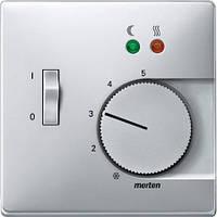 Накладка для механизма терморегулятора Merten SD Алюминий MTN537560