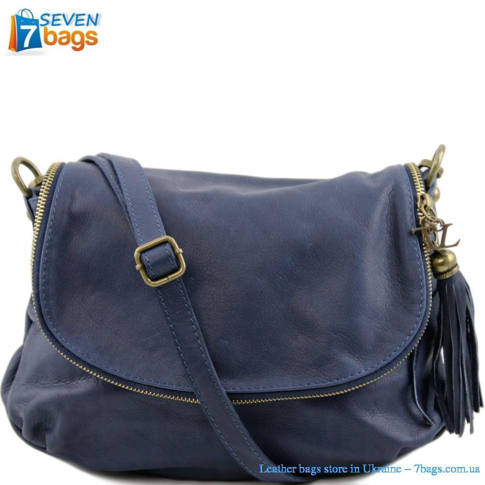 Женская кожаная сумка на плечо Tuscany Leather Bag TL141223 (Light blue —  светло-синий a86321e2560cb