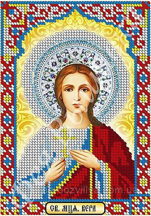 """Схема для вышивки бисером икона """"Святая Вера"""" (частичная зашивка), фото 2"""