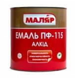 Эмаль ПФ-115 Маляр  серебристая ( 35 кг )